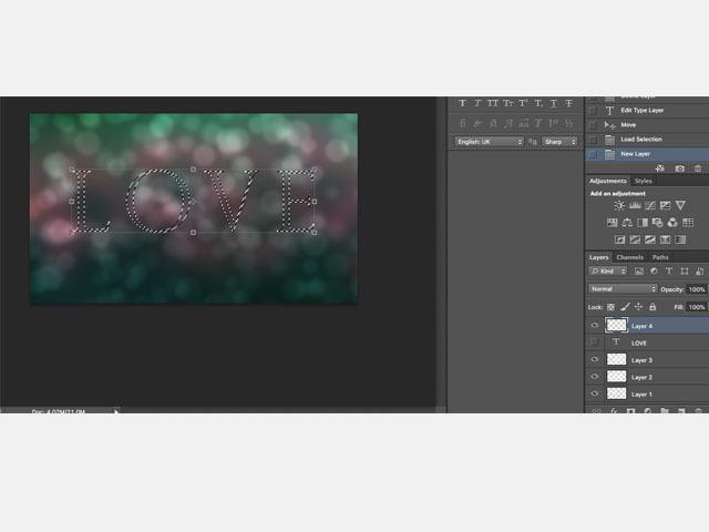 Bokeh Text Adobe Photoshop