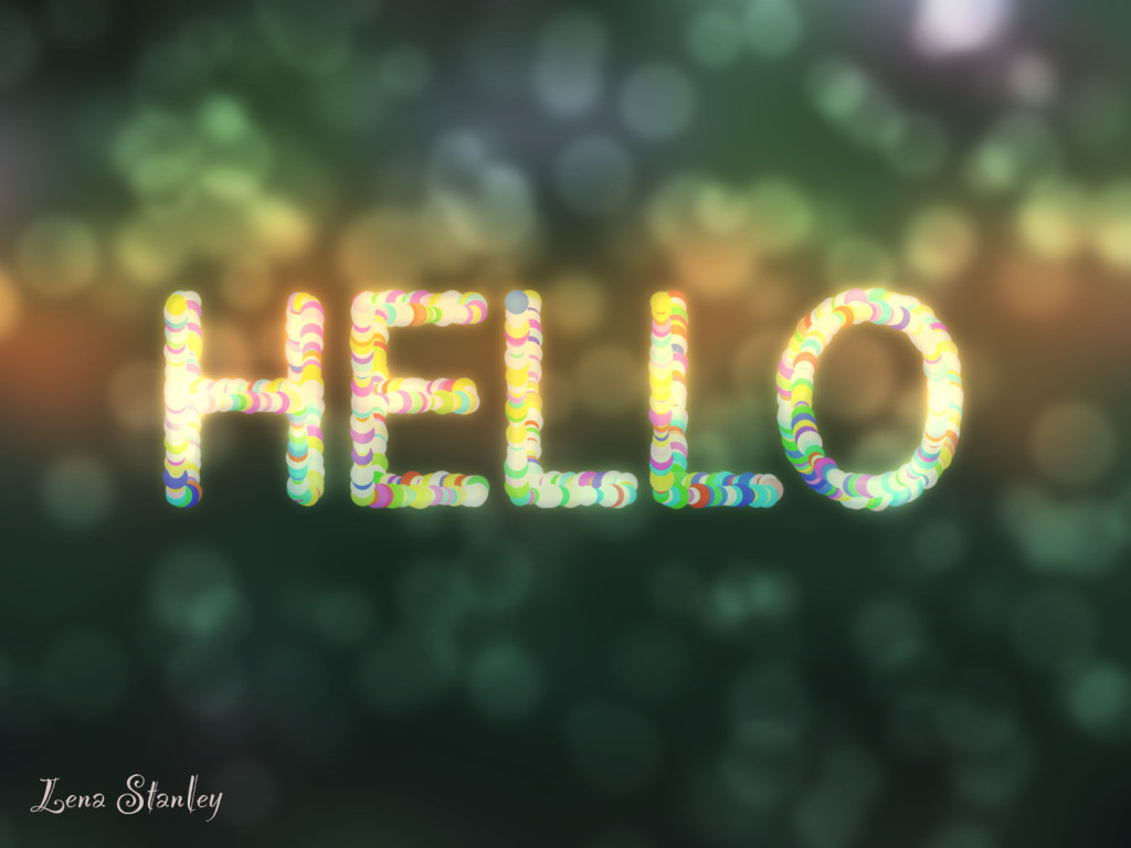 How to create a Bokeh Effect Wallpaper with text in Photoshop?