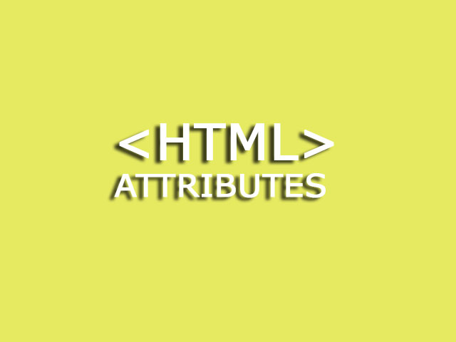 HTML attributes