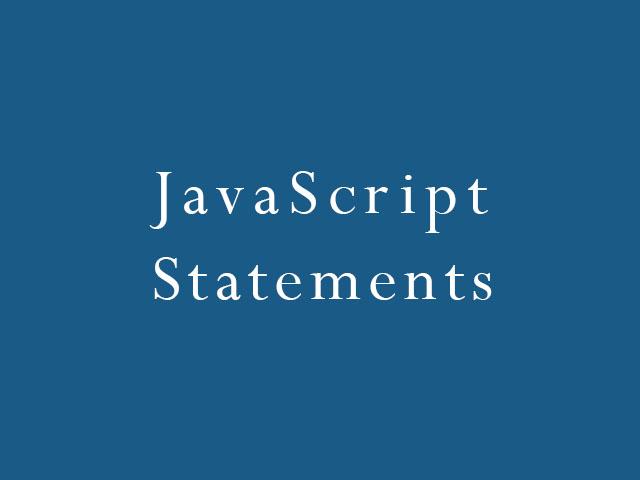 JavaScript Statements