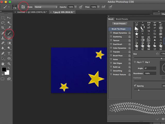 Photoshop Sparkle brush