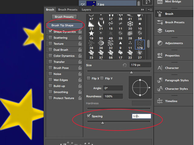 Adobe Photoshop Sparkle Brush