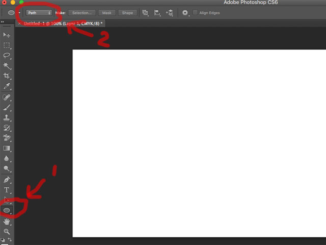 Photoshop type text in the circle