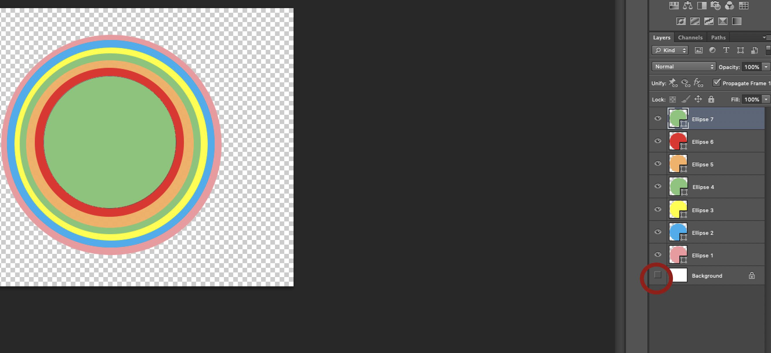 Rainbow in Adobe Photoshop
