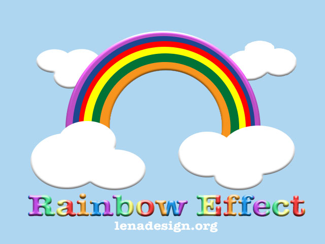 Rainbow Effect Photoshop