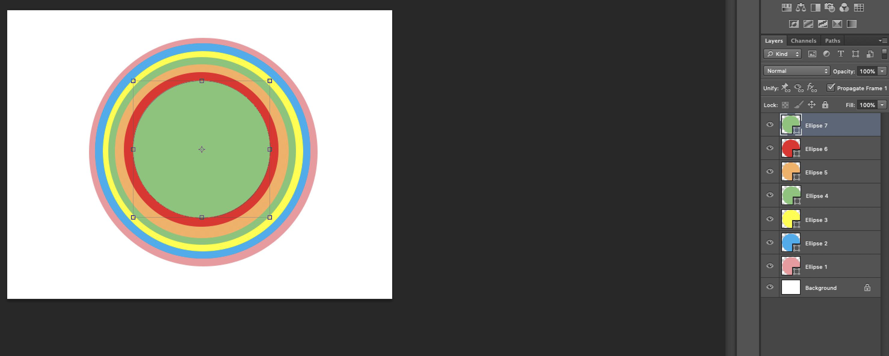 rainbow Photoshop
