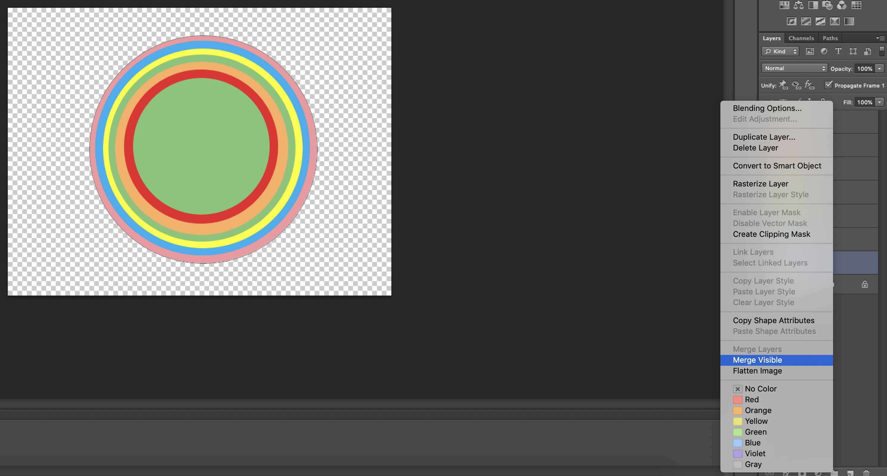 Rainbow Effect