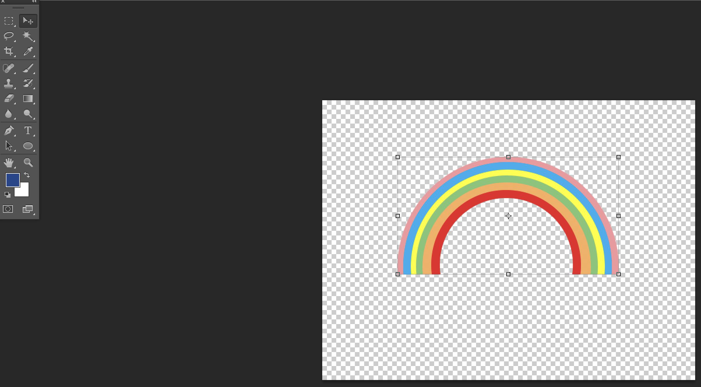 Rainbow in Phtoshop