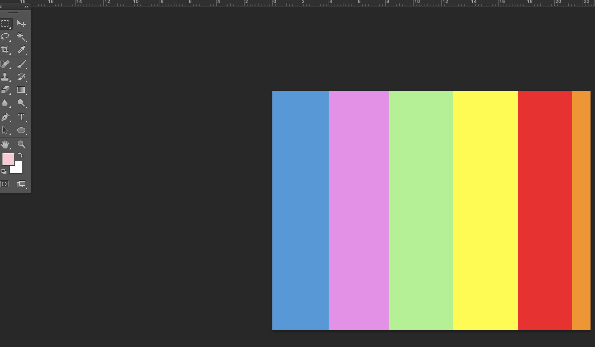 Rainbow text Adobe Photoshop