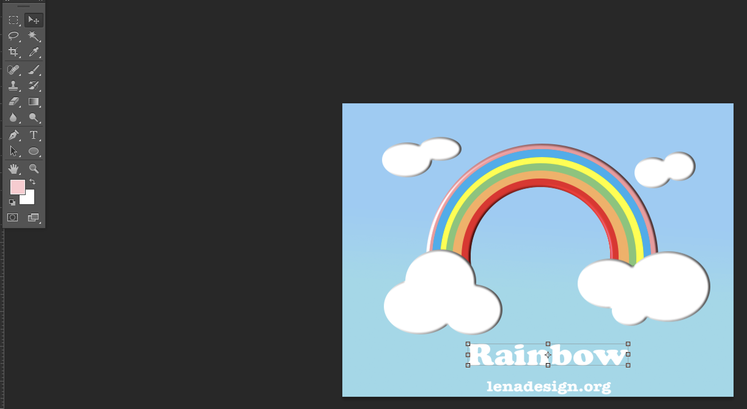 Rainbow text effect Photoshop