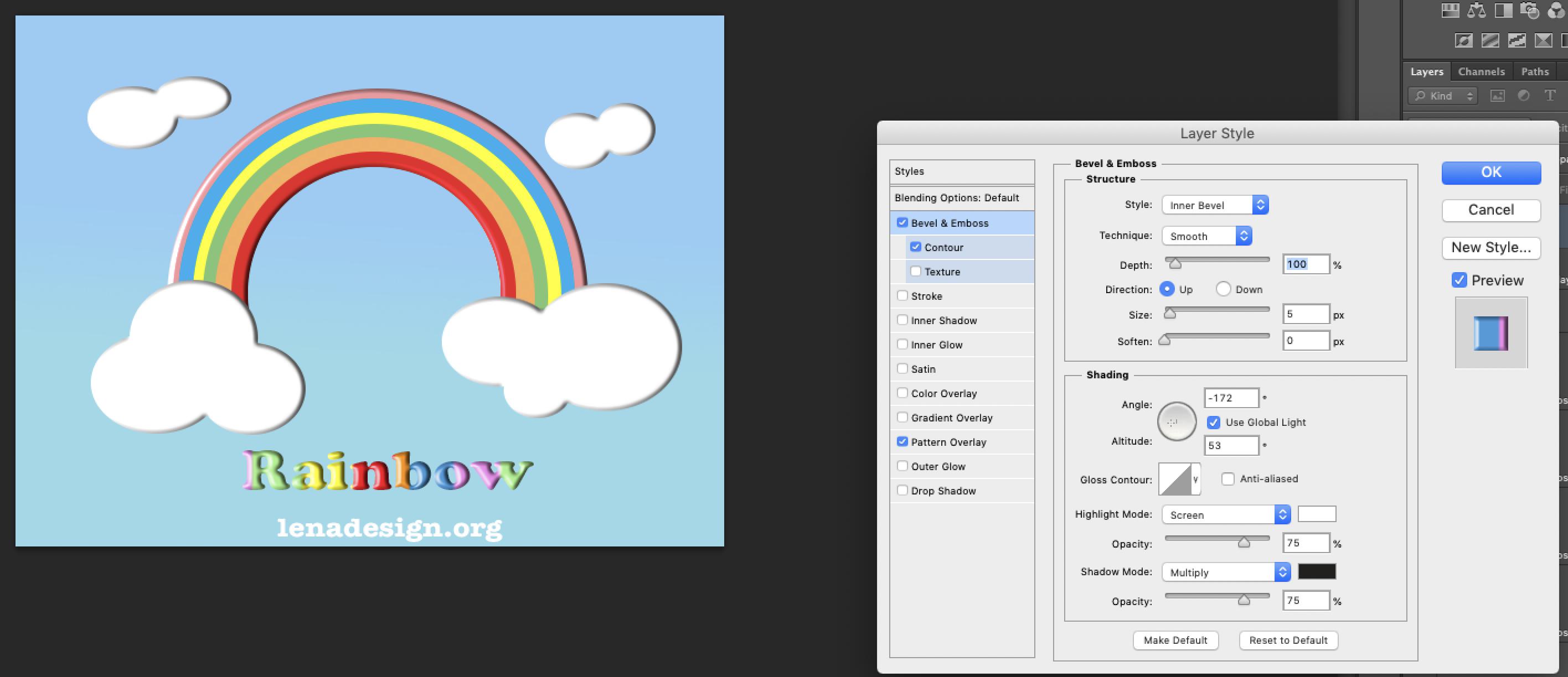 Rainbow Text Photoshop