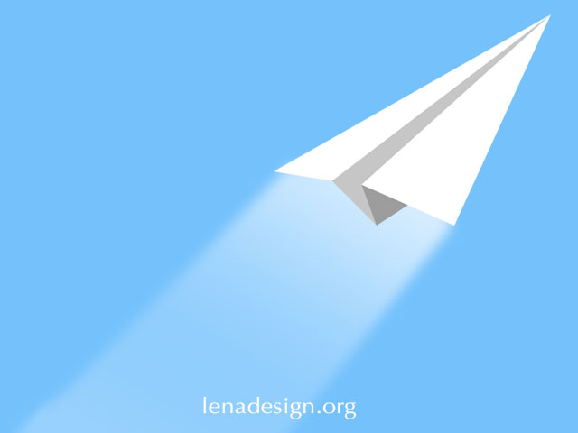 How to draw a paper plane in Adobe Illustrator?