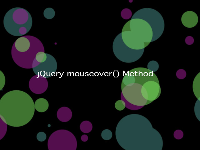 jQuery mouseover() Method