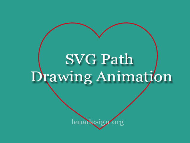 SVG Path drawing animation