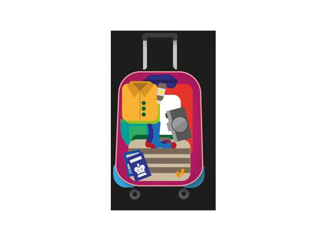 luggage inside