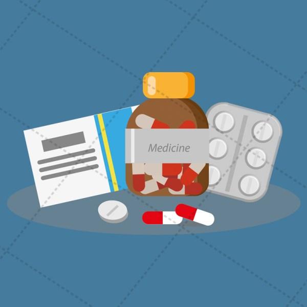 medicine - vecotor image