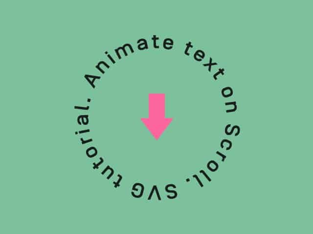 animate a text on the circle