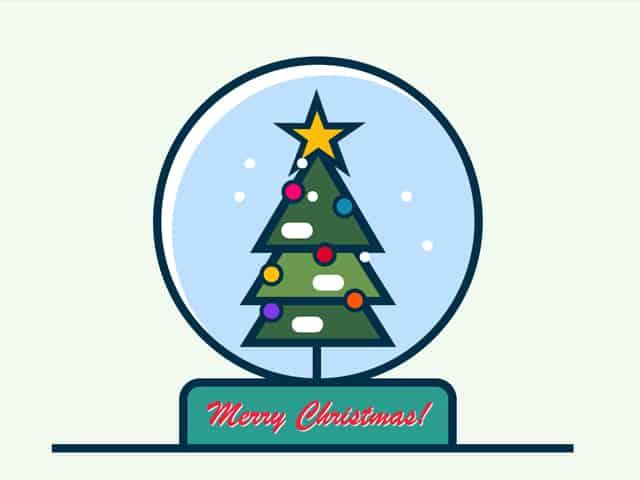 CSS Christmas Tree Snow Globe