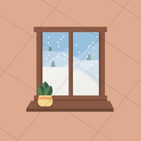 window snowfall