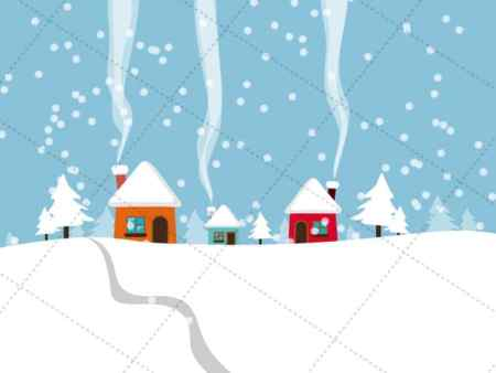 snowfall - vecotr image