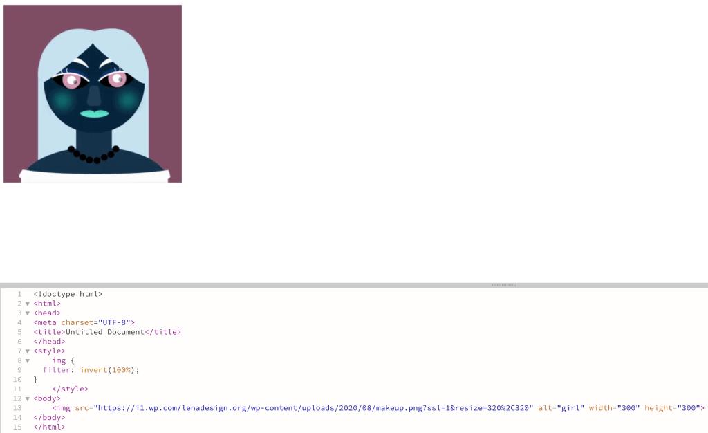 CSS filters Invert