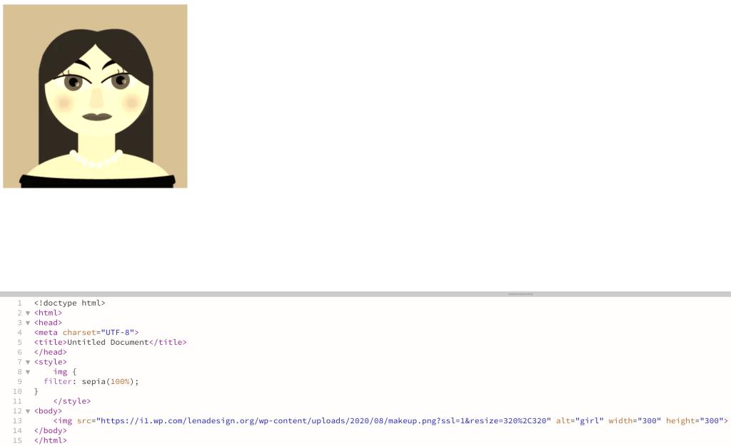 CSS Filter -Sepia