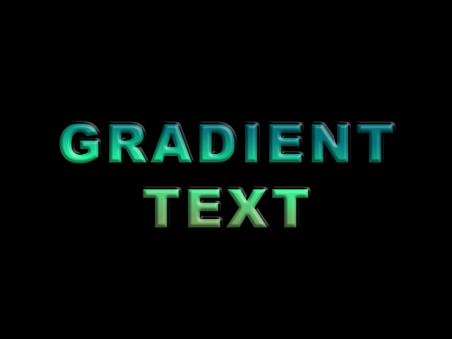 gradient text effect photoshop