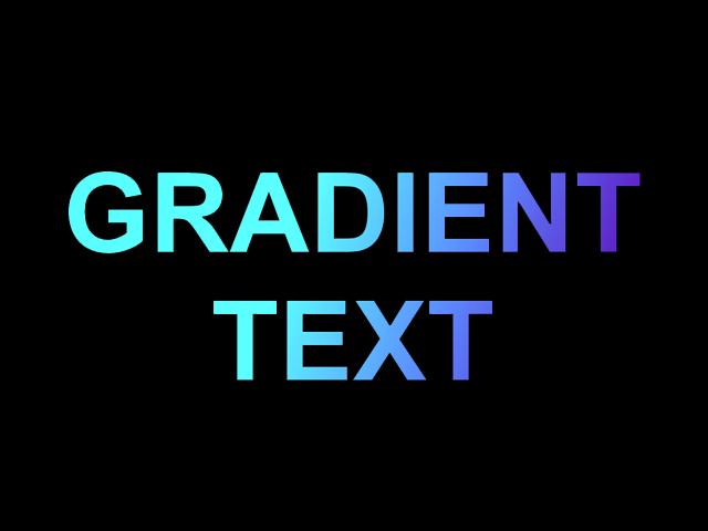 CSS gradient text effect