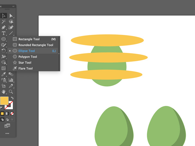 decorating easter eggs in adobe illustrator
