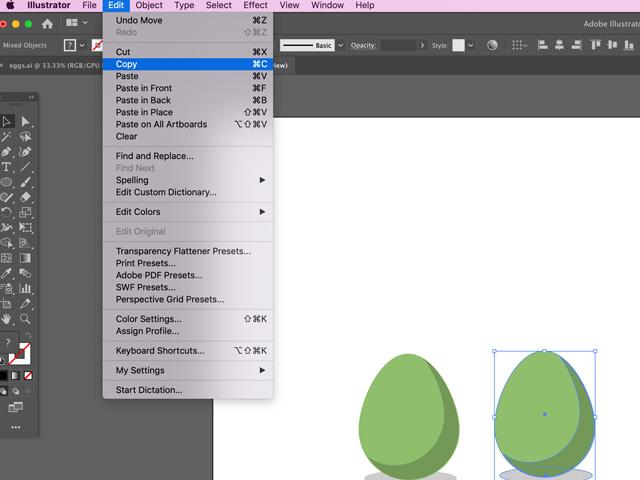 eggs in adobe illustrator