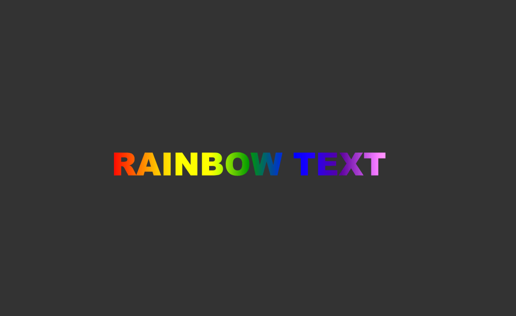CSS Rainbow text effect