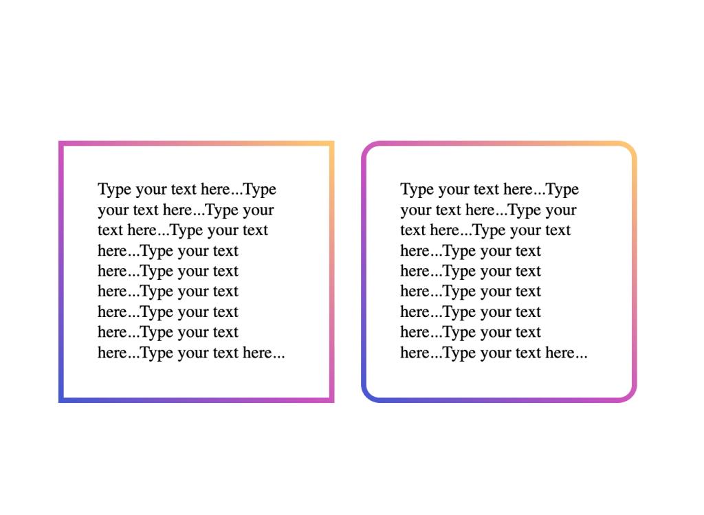 CSS gradient borders