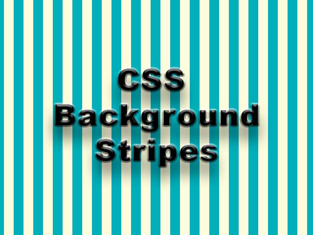 CSS Stripes