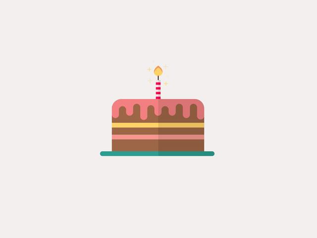 CSS Birthday Cake