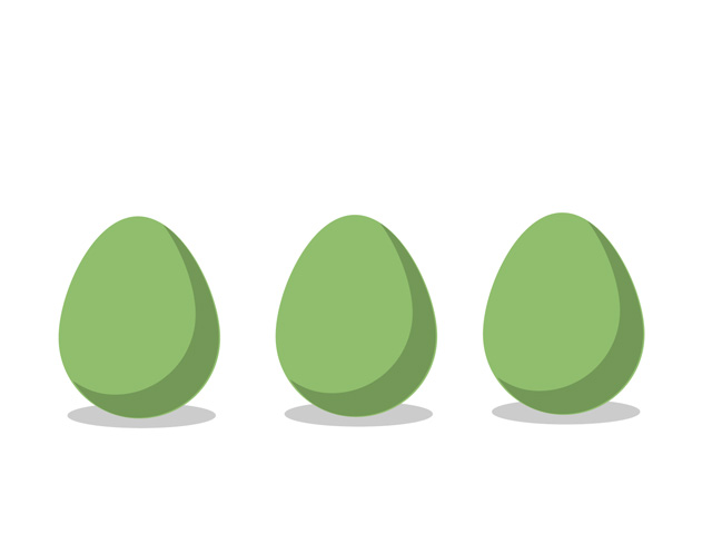 draw the eggs