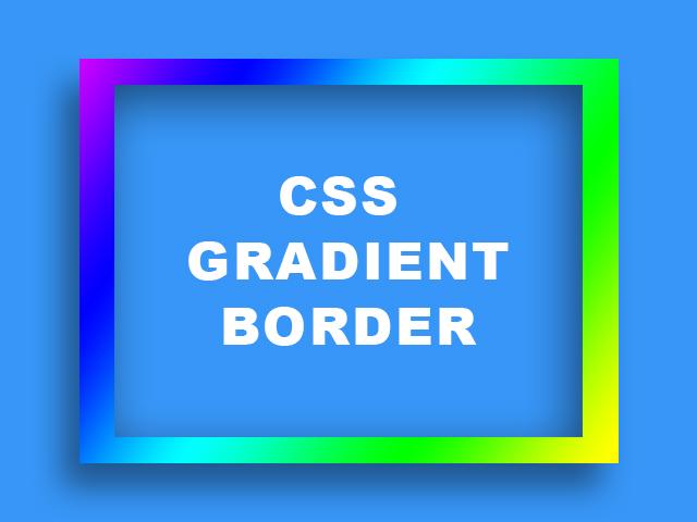 CSS Gradient Border