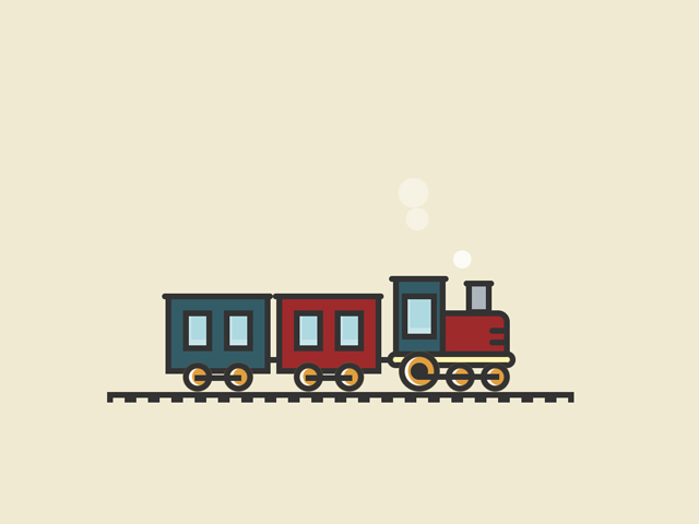 CSS train animation