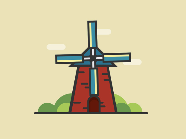 Pure CSS Windmill