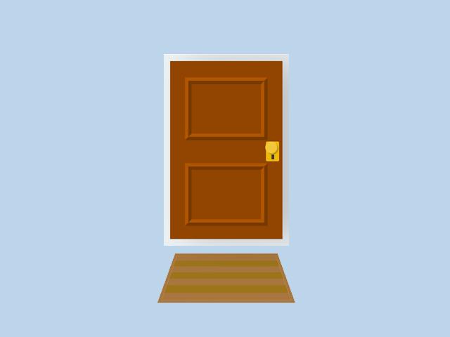 CSS Door Open Close Animation
