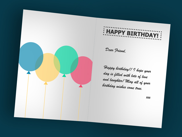 CSS Folded Greeting Card