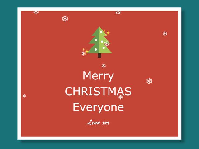 CSS Christmas Card