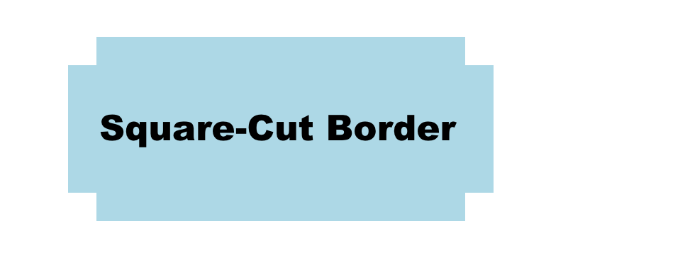 CSS Square-cut Corners