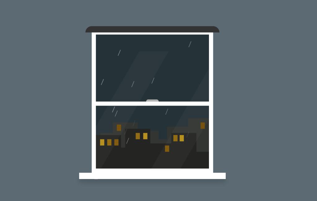 CSS Window Rain