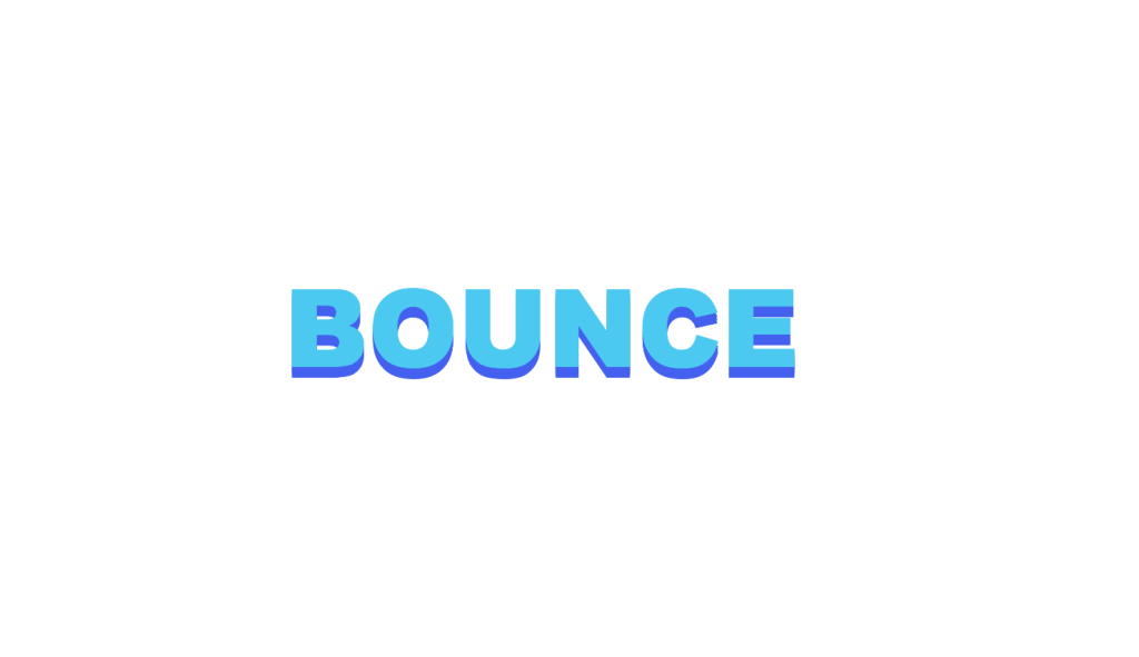 CSS Bounce effect text animation