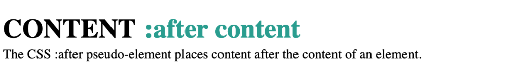 CSS :after pseudo element
