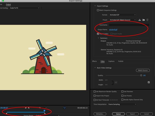 GIF Adobe Premiere {ro