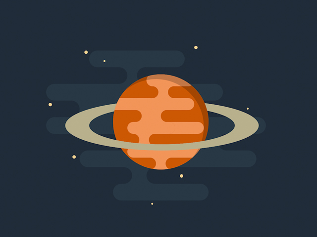 CSS Planet with Rings