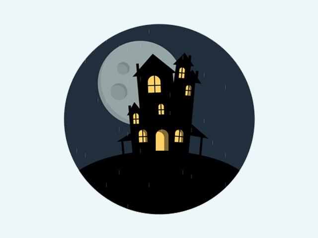 CSS Spooky House