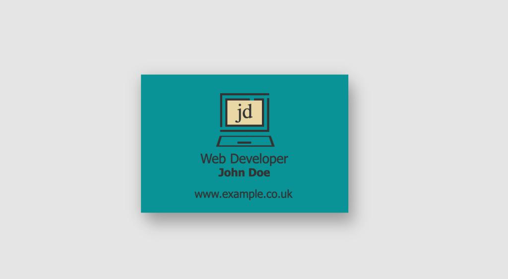 CSS  3d flip Business Card