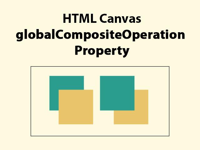 HTML canvas globalCompositeOperation Property